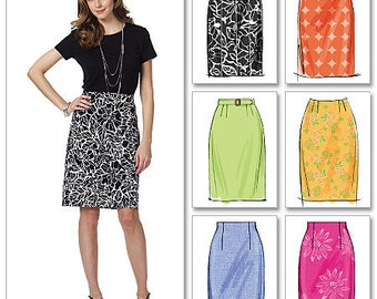 Butterick Sewing Pattern B5466 Misses' Straight Skirts and Belt