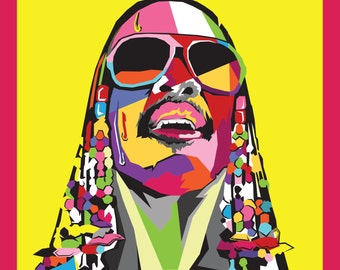 Stevie Wonder Pop Art Illustration