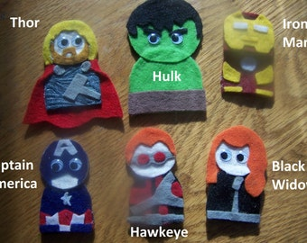 Avengers Finger Puppets Pattern & Tutorial
