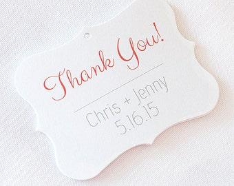 Thank You Wedding Tags, Customized Wedding Tags, Custom Wedding Favor Tags (EC-003)