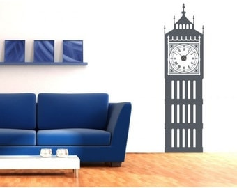 Big Ben wall decal clock, sticker, mural, vinyl wall art