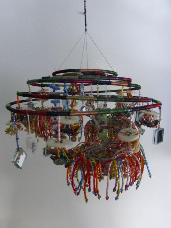 Mobile feng shui decor hanging mobile recycled art zen - Feng shui mobel ...