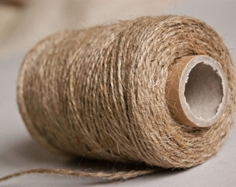 Natural jute twine - Jute twine - Jute cord - 76 yards - For gift wrapping DIY weddings Craft projects