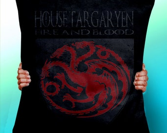 Game of Thrones House Targaryen - Dragon - Fire And Blood - Cushion / Pillow Cover / Panel / Fabric
