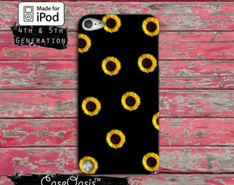 Sunflower Pattern Flower Tumblr Inspired Love Cute Custom Case iPod Touch 4th Generation or iPod Touch 5th Generation or iPod Touch 6th Gen