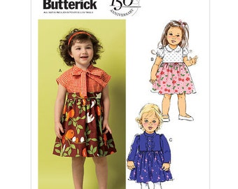 OUT OF PRINT Butterick Pattern B5912 Toddlers' Dress