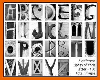 Architecture letters etsy for Architectural letter photos