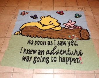 SALE 20% off As soon as I saw you. Winnie Pooh & Piglet PATTERN ONLY