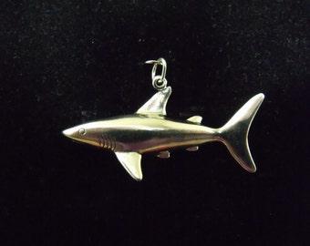 Sterling Silver Shark Pendant  - .925  4.8 grams