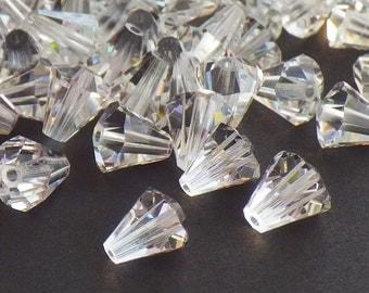 Rare Vintage Swarovski Beads, 20 Vintage Swarovski Crystal Beads Article 5400 6.6x6mm