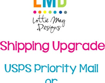 Upgrade to Priority Mail or Express Mail Shipping