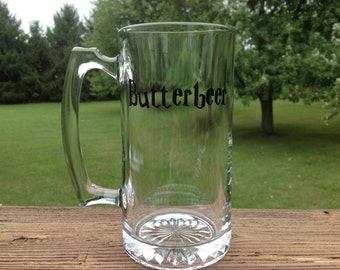 Beer Mug with Butterbeer - Harry Potter Fans!  Choose your colors!
