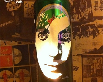 Syd Barrett Beer Can Lantern! The Madcap Laughs, Pink Floyd Pop Art Candle Lamp