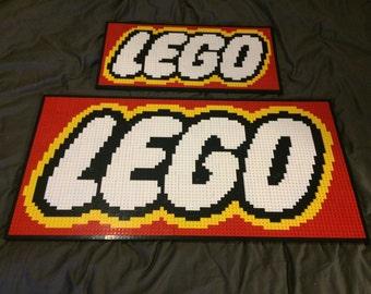 LEGO mosaic of LEGO logo
