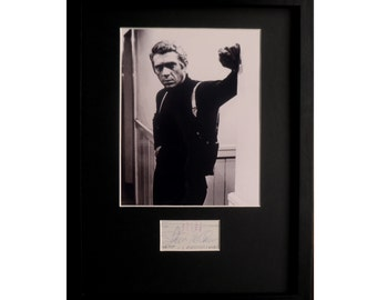 STEVE McQUEEN AUTOGRAPH photo display Bullitt