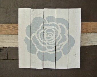 CLEARANCE 60% OFF Rose Petals Wood Wall Art Silhouette