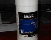 Liquitex White Gesso bottle, new, never used, Surface prep, Artist Acrylic, 946ml
