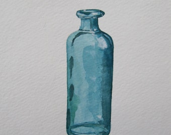 Teal Bottle