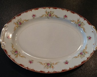 Vintage Harmony House Platter <> Wembley Pattern <> Sold by the Sears Roebuck Co. <>  EXCELLENT CONDITION <> 1950's