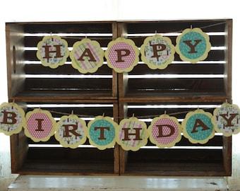 Birthday Decorations, Happy Birthday, Custom Made Birthday Decorations