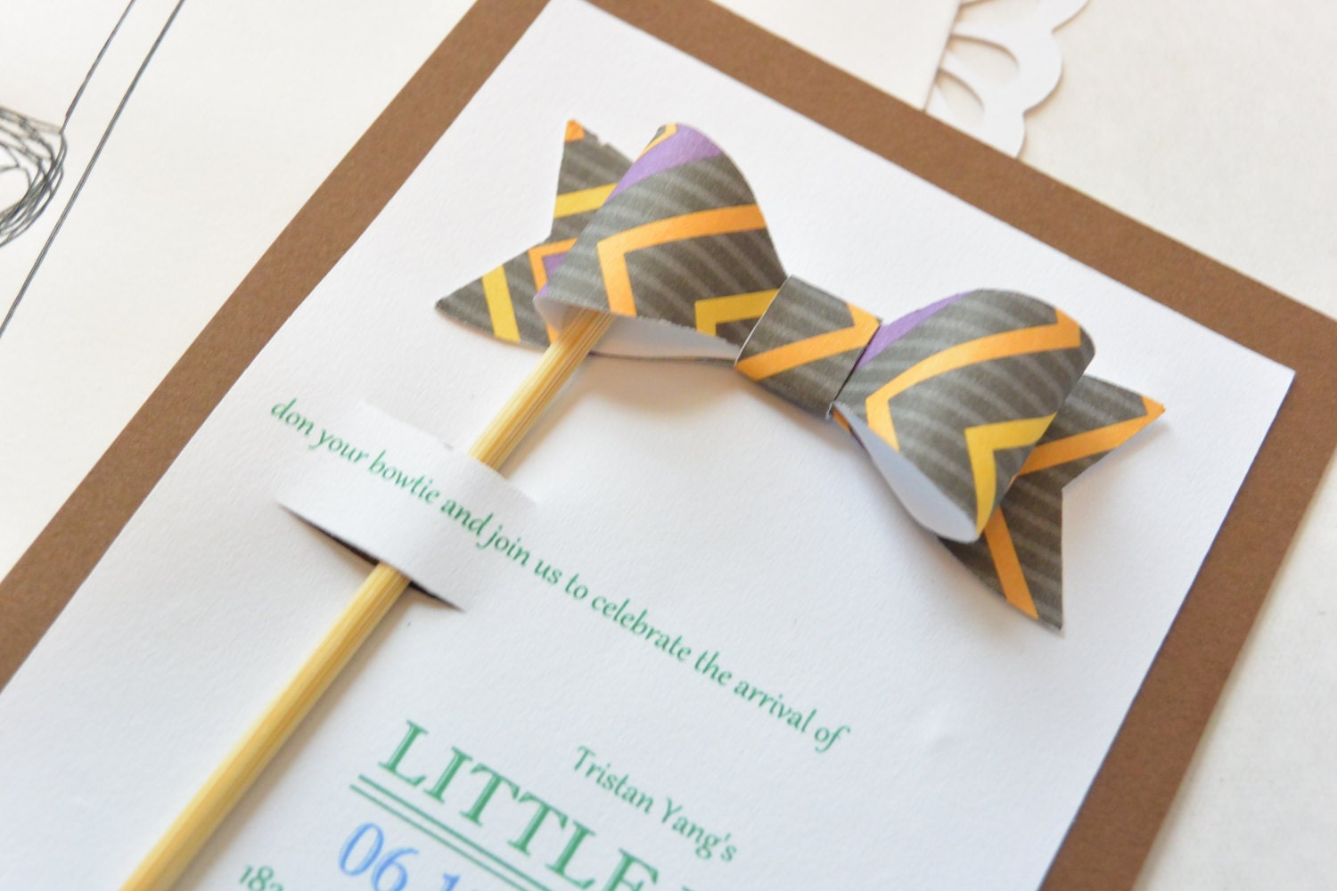 little man bow tie inspired baby shower by partybashcreations