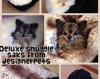 Luxury Faux Fur Snuggle Sack Dog Bed