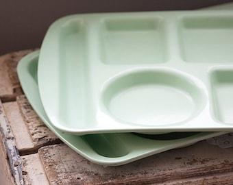 School Lunch Tray, Proloneware by Vistron Mint Green