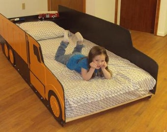 Popular items for twin bed on etsy - Dump truck twin bed ...