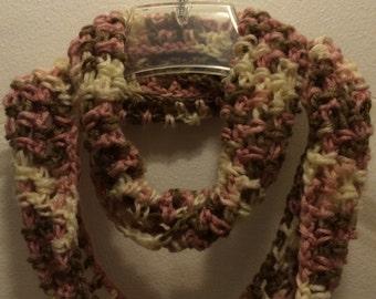 Neapolitan Infinity Crocheted Scarf