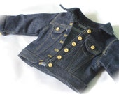 """18 Inch Doll Dark Denim Jacket - American Made 18 Inch Doll Clothes - 18"""" Doll Jean Jacket - Liberty Jane Clothing - Clothes for Girl Dolls"""