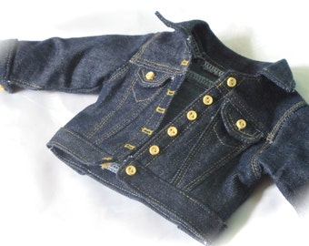 "18 Inch Doll Dark Denim Jacket - American Made 18 Inch Doll Clothes - 18"" Doll Jean Jacket - Liberty Jane Clothing - Clothes for Girl Dolls"