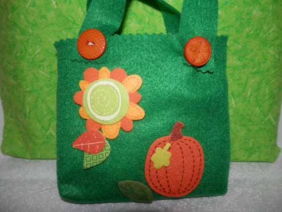 Fall felt bags candy bags gift bags thanksgiving gift bags table