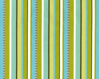 Premium quilting cotton fabric by the yard, aqua green stripe fabric by Paula Prass for Michael Miller. Need more fabric yardage? Just ask.