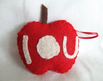 BBC Sherlock Jim Moriarty's I O U Apple Felt Ornament The Final Problem Andrew Scott Professor Moriarty
