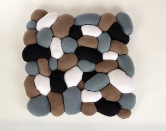 Grey Pebble Cushion - Fleece Sewing Project