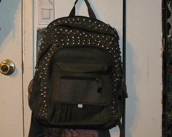 Green Studded Backpack