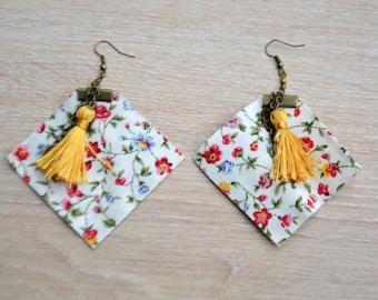 Gipsy yellow earrings