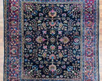 """Hand Knotted Antique Sarouk Rug from Persia - 7' 4"""" x 8' 6"""""""