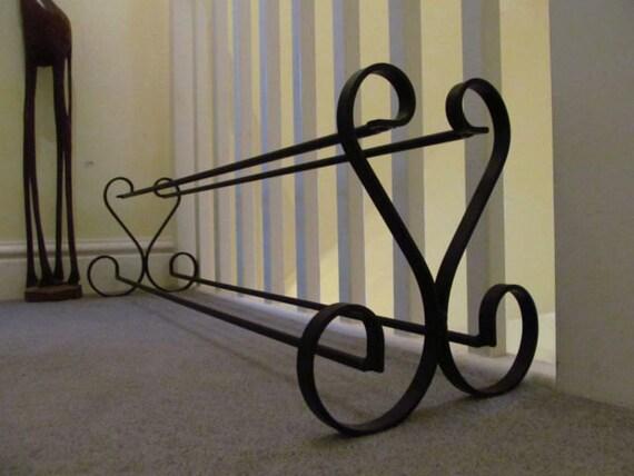 Black Wrought Iron Shoe Rack