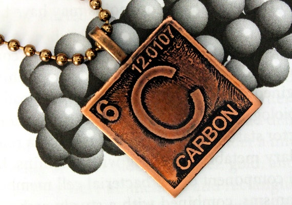 Carbon science jewelry scientific necklace by scientifiques.