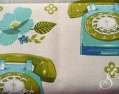 Kokka Fabric: Vintage Telephones
