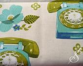 Kokka Fabric: Vintage Telephones