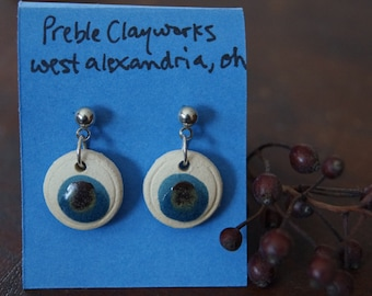 Ceramic post earrings include indigenous clay
