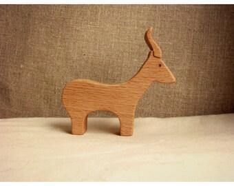 Waldorf inspired wooden animals: Antelope