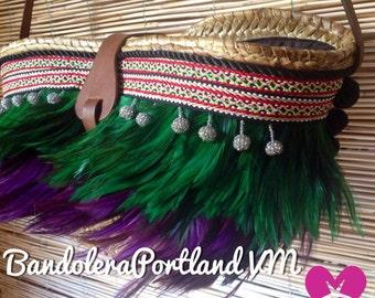 BandoleraPortland green/purple