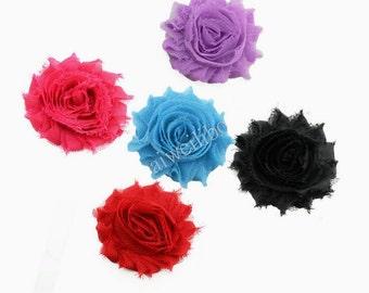 Shabby Chiffon Flower, Fabric Flower For Headband And Hair Accessories