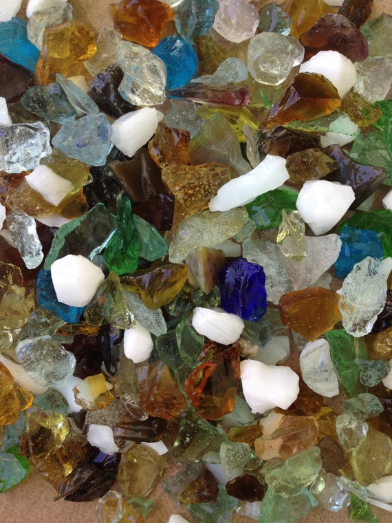 Confetti rainbow of colors sea glass 4lb bag bulk for Craft mosaic tiles bulk