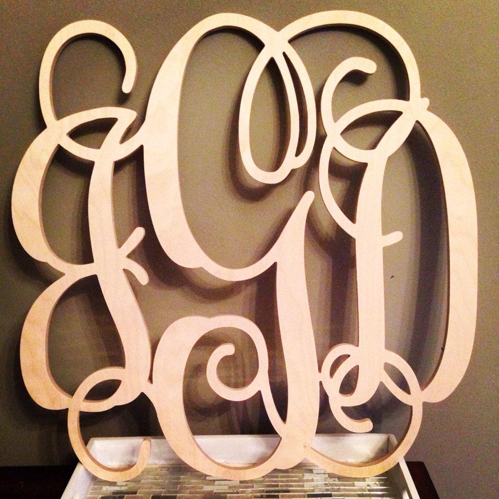 24 inch wood monogram letter great for wedding door and. Black Bedroom Furniture Sets. Home Design Ideas