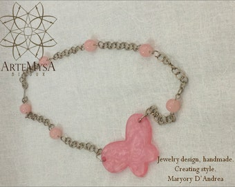 Magical Butterfly Necklace, (CLL26)