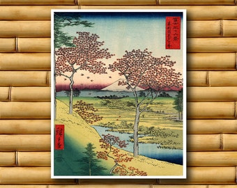 Landscape Art Asian Decor Japanese Art Print Retro Poster (J27)